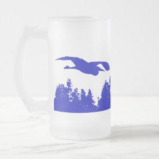 Great Blue Heron Birds Wildlife Animals Frosted Glass Beer Mug