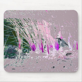 Great Blue Heron Birds Wildlife Animals Mouse Pad