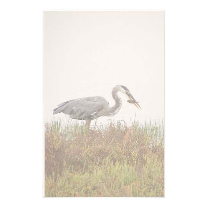 Great Blue Heron Birds Wildlife Animals Stationery