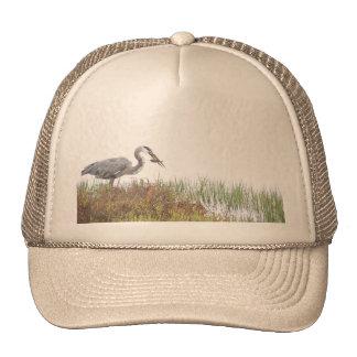 Great Blue Heron Birds Wildlife Animals Trucker Hat