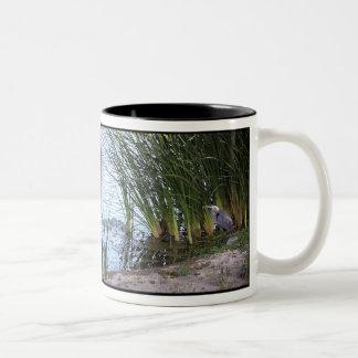 Great Blue Heron Birds Wildlife Animals Two-Tone Coffee Mug