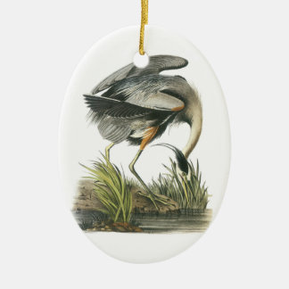 Great Blue Heron by Audubon Ceramic Ornament