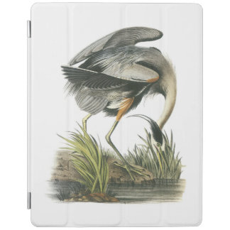 Great Blue Heron by Audubon iPad Cover