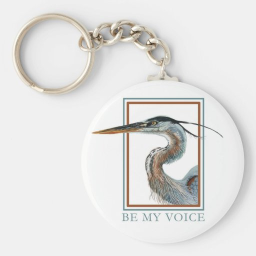 Great Blue Heron by Jane Freeman Keychains