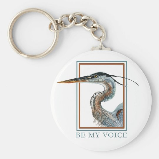Great Blue Heron by Jane Freeman Keychain