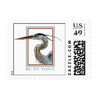 Great Blue Heron by Jane Freeman Postage Stamp