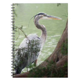 Great Blue Heron By The Tree Notebook