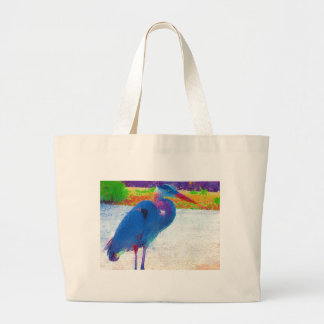 Great Blue Heron Canvas Bags