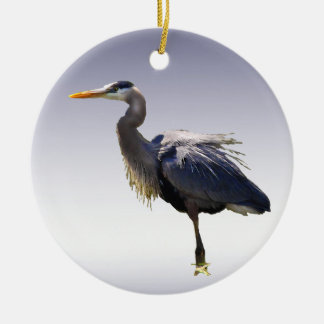 Great Blue Heron Ceramic Ornament
