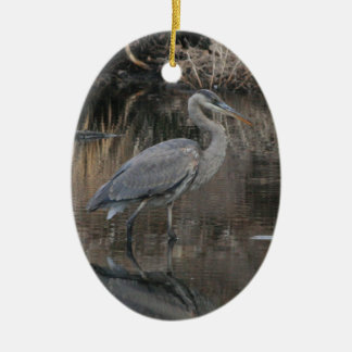 Great Blue Heron Ceramic Ornament