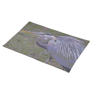 Great Blue Heron Challenge Cloth Placemat