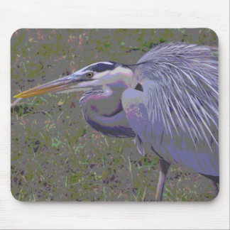 Great Blue Heron Challenge Mouse Pad