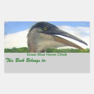 Great Blue Heron Chick Sticker