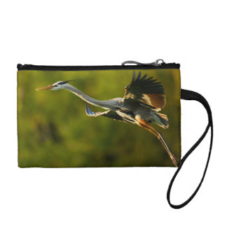great blue heron coin wallet