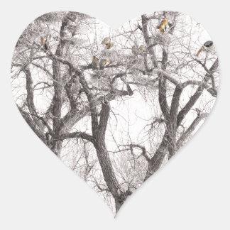 Great Blue Heron Colonies Heart Sticker