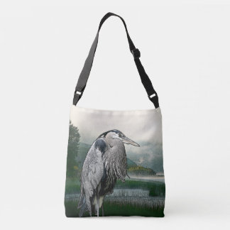 Great Blue Heron Crossbody Bag