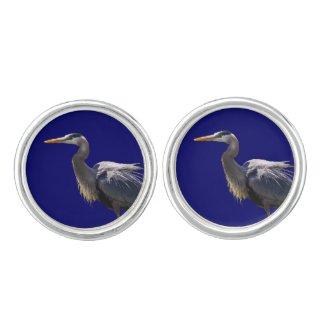 Great Blue Heron Cuff Links Cufflinks