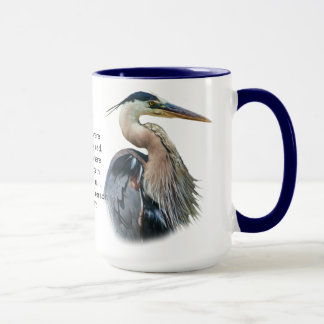 Great Blue Heron Customizable Mug