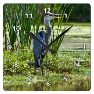 Great Blue Heron Fishing Clock