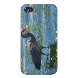 Great Blue Heron Fishing Wilderness Photography Case For iPhone 4