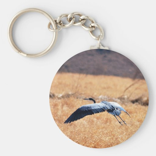 Great blue heron flying Low Keychain