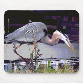Great Blue Heron Foraging Mouse Pad