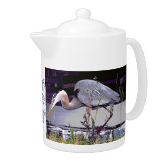 Great Blue Heron Foraging Teapot