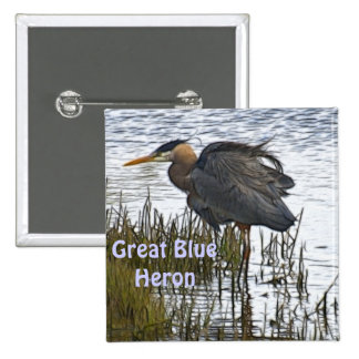 GREAT BLUE HERON Gifts Button