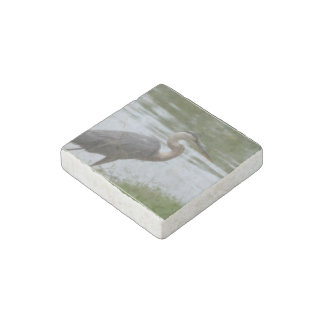 Great Blue Heron Stone Magnet