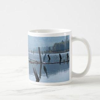 Great Blue Heron Haiku mug. Coffee Mug