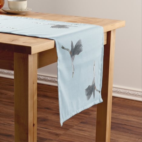 Great Blue Heron in Flight Patterned Short Table Runner