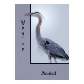 "Great Blue Heron 5"" X 7"" Invitation Card"