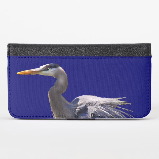 Great Blue Heron iPhone X Wallet Case