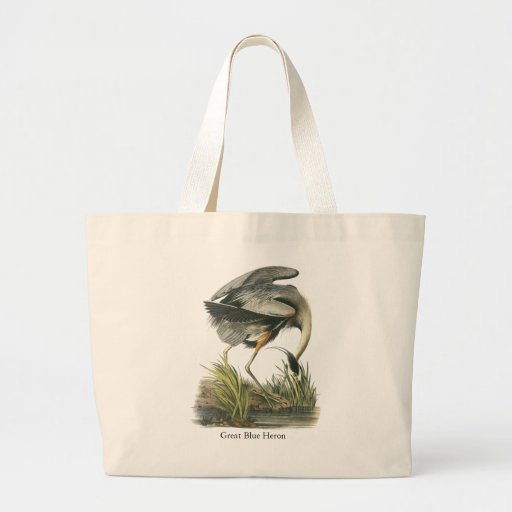 Great Blue Heron, John Audubon Tote Bags
