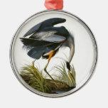 Great Blue Heron, John James Audubon Christmas Ornaments