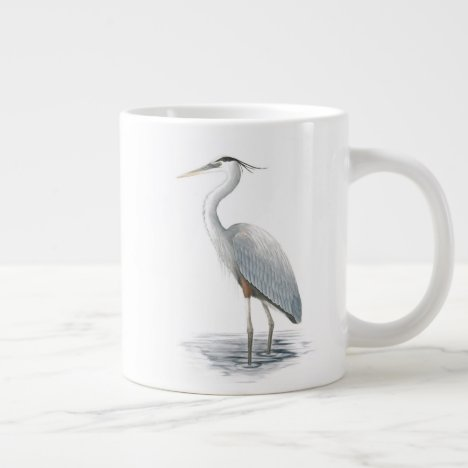 Great Blue Heron Jumbo Mug