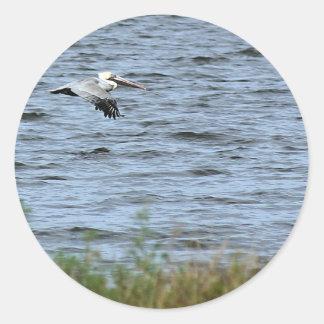 Great Blue Heron, Kennedy Space Heron Classic Round Sticker