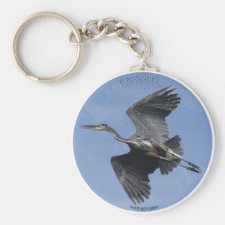 GREAT BLUE HERON Key-chain Gifts Keychain
