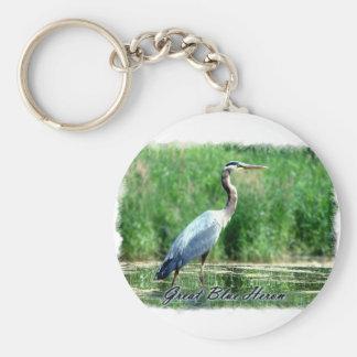 Great Blue Heron Key Chain