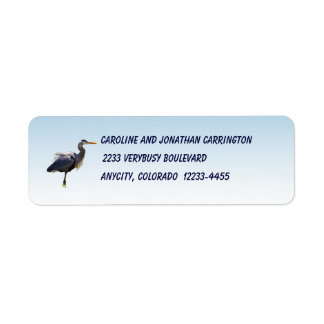 Great Blue Heron Label
