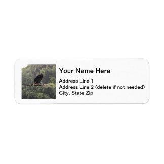 Great Blue Heron Label