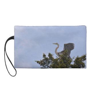 Great Blue Heron Landing on Nest Wristlets