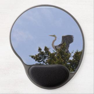 Great Blue Heron Landing on Nest Gel Mouse Mats
