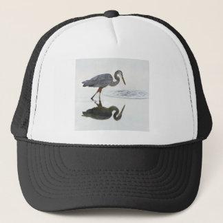 Great Blue Heron Looking at Ripples in Water.jpg Trucker Hat