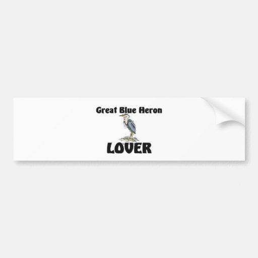Great Blue Heron Lover Bumper Sticker