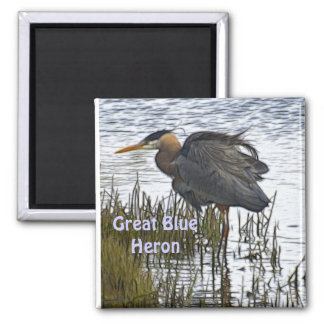 GREAT BLUE HERON Magnet Gifts