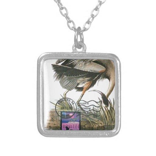 Great Blue Heron maximum card Audubon Custom Jewelry