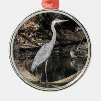 Great Blue Heron Metal Ornament