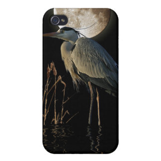 Great Blue Heron & Moon Wildlife Art Cover For iPhone 4