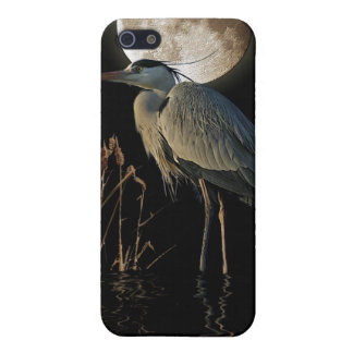 Great Blue Heron & Moon Wildlife Art Cover For iPhone SE/5/5s